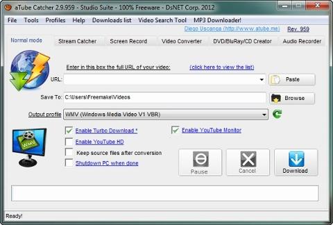 aTubeCatcher interface