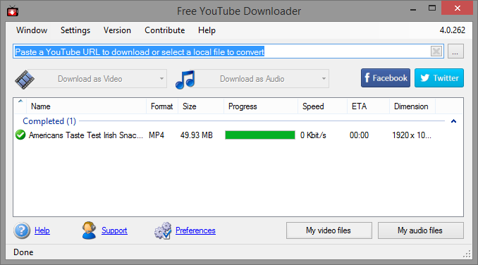 free-youtube-downloader-interface