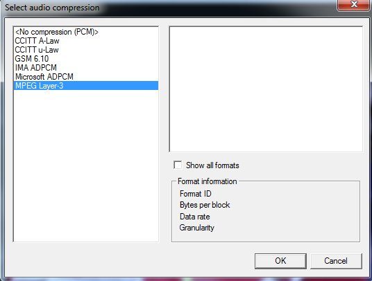 Virtualdub Audio Compression