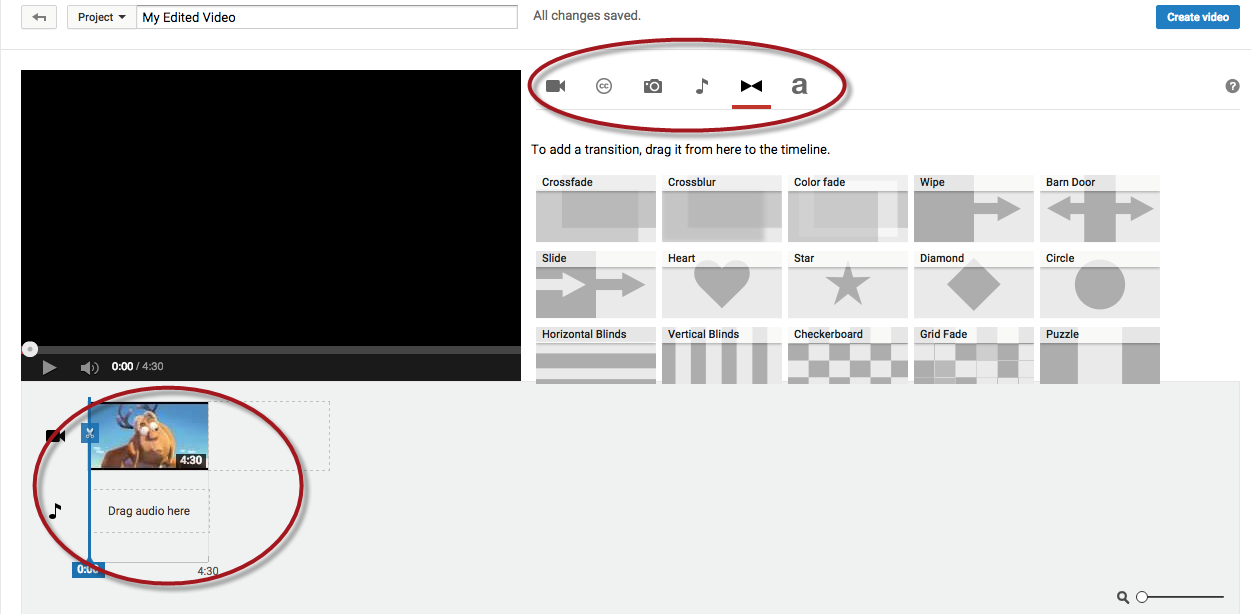 youtube transitions