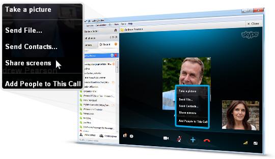 Share srceens in Skype