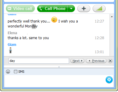 Search in Skypу chat