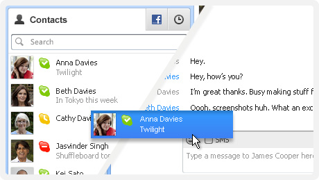Share contacts in Skype