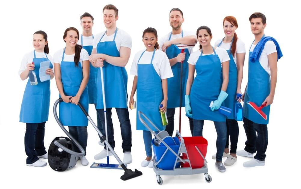 cleaning team guys