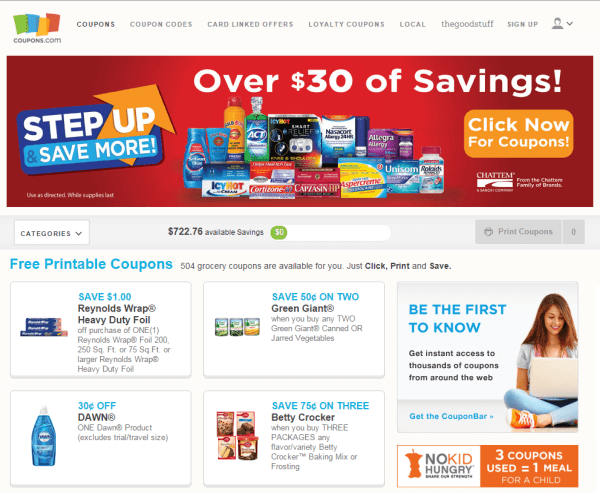 couponscom site