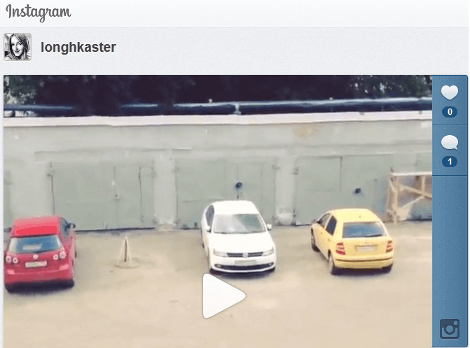 Instagram video with cars example