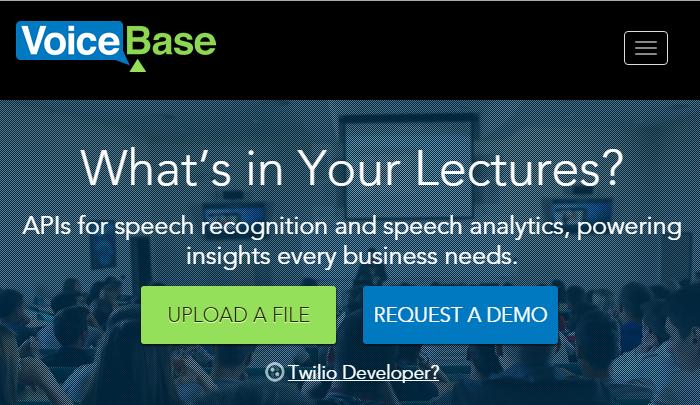 VoiceBase Speech to Text Online Service