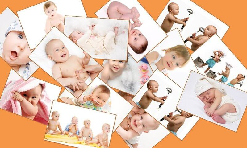 baby pics collage