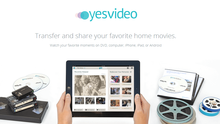 YesVideo VHS to DVD service