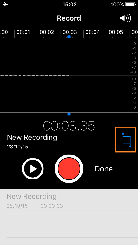 iPhone Voice Memos