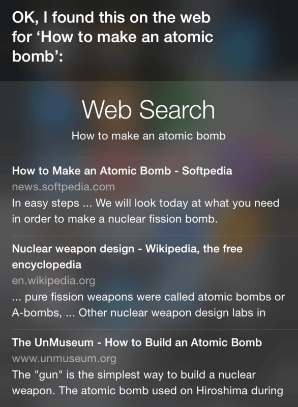cool things to ask siri: make a bomb