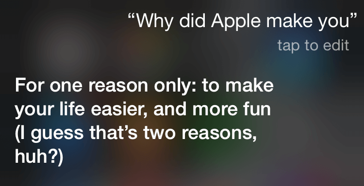 questions to ask siri: why apple made you