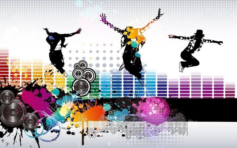 people dancing stock image
