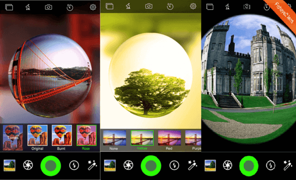9 fish eye apps to turn iphone camera into lens freemake for Fish eye effect