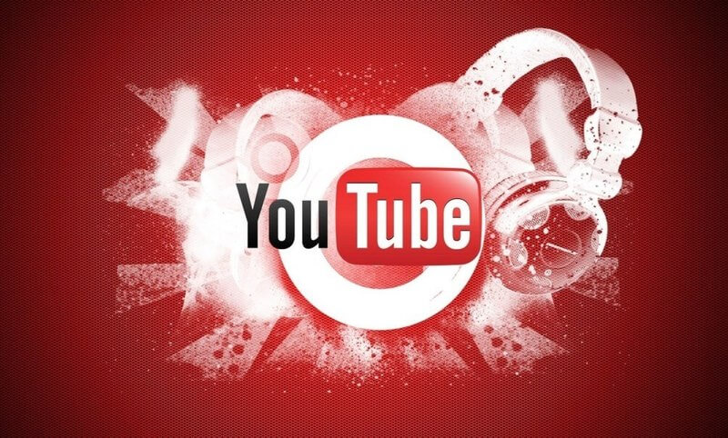 youtube logo with earphones