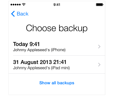Restore your iCloud Backup