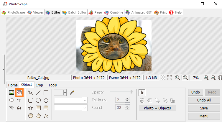 PhotoScape Cartoon Effect