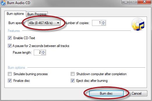 CDBurnerXP burn