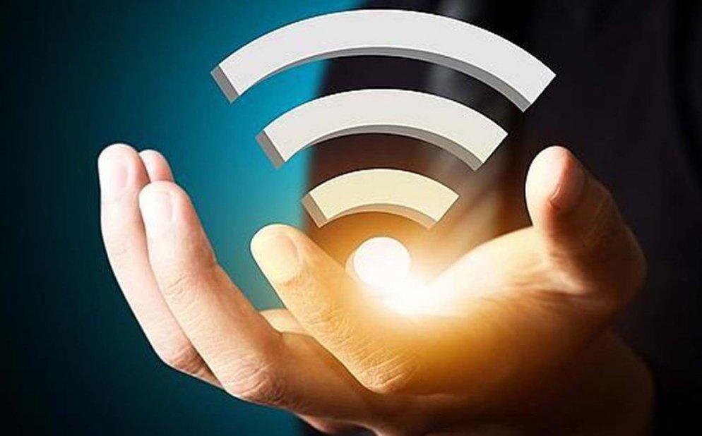 wi-fi logo on a hand