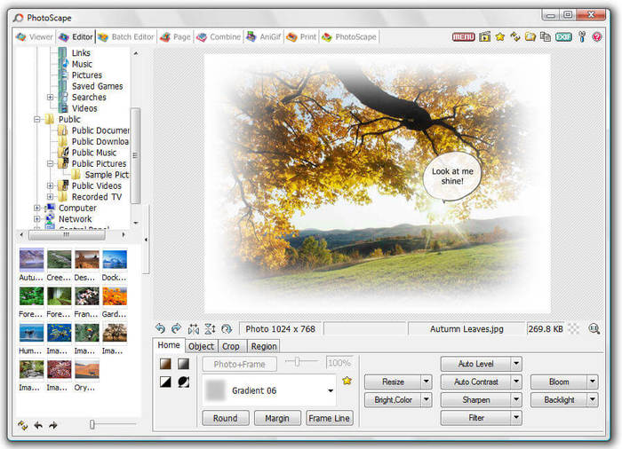 photoscape resize photo