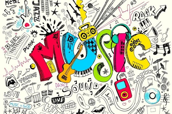 music colorful sketch