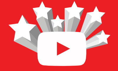 youtube logo with stars