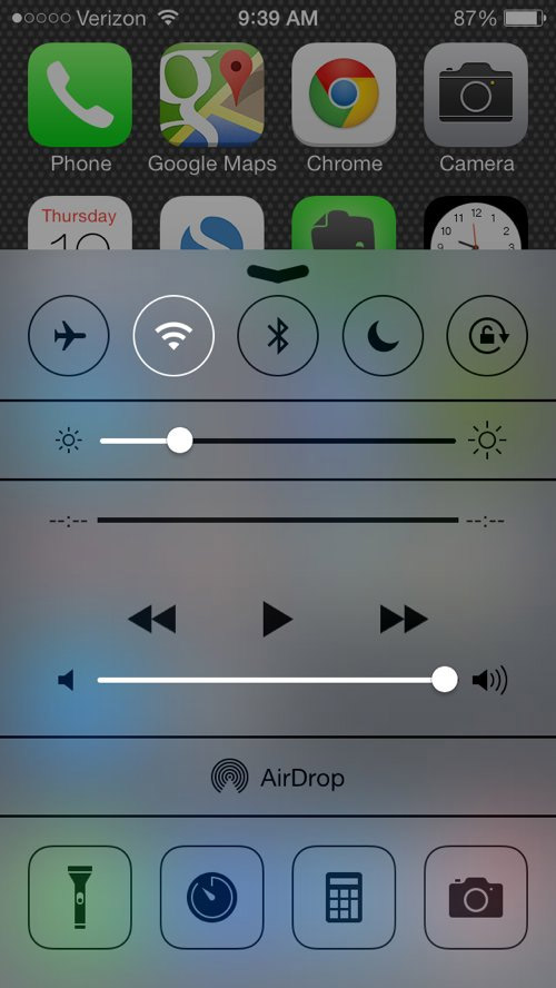 Adjust the volume with the volume buttons or the slider in Control Center