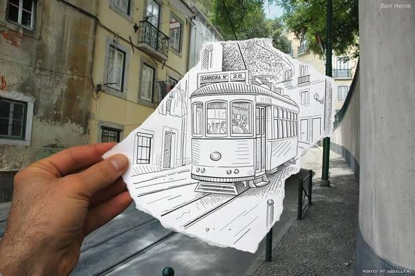 tram sketch