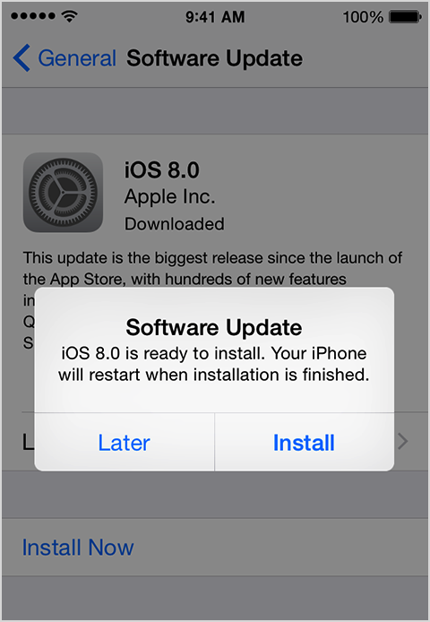 Mettez à jour l'iPhone avec la dernière version iOS