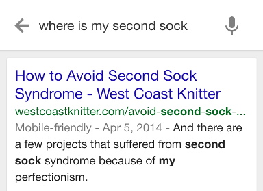 Okey, Google, where is my second sock?