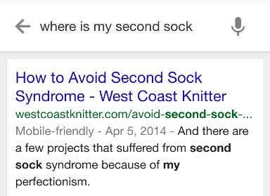 Okey, Google, where is my second sock?