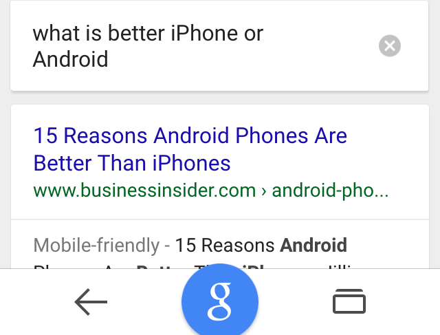 ok google android vs iphone
