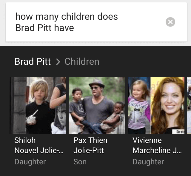 ok google brad pitt children