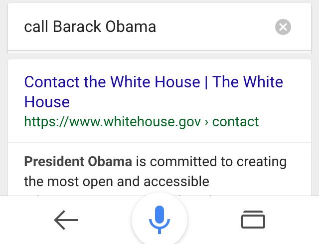 ok google call barack obama