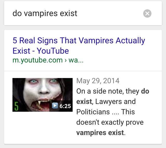 ok google do vampires exist