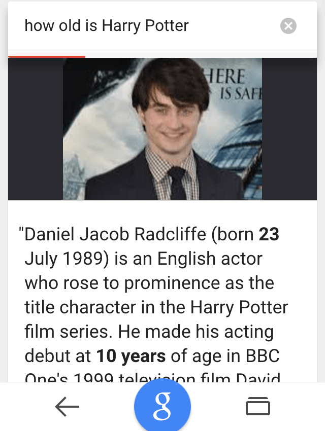 ok google happy potter