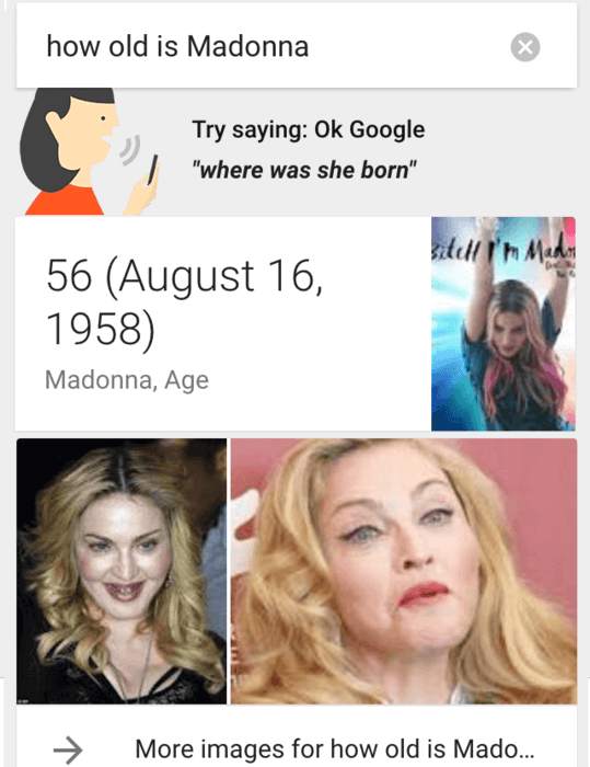 ok google how old is madonna
