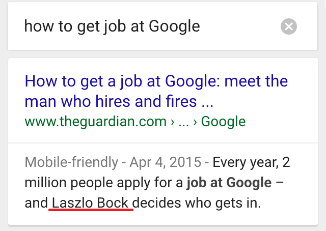 ok google how to get job at google
