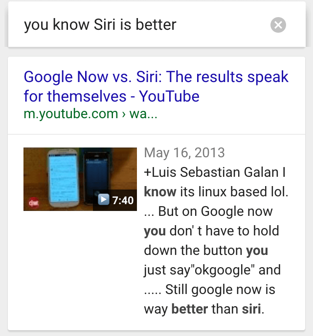 ok google siri is better