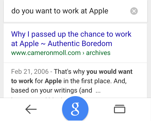 ok google work at apple
