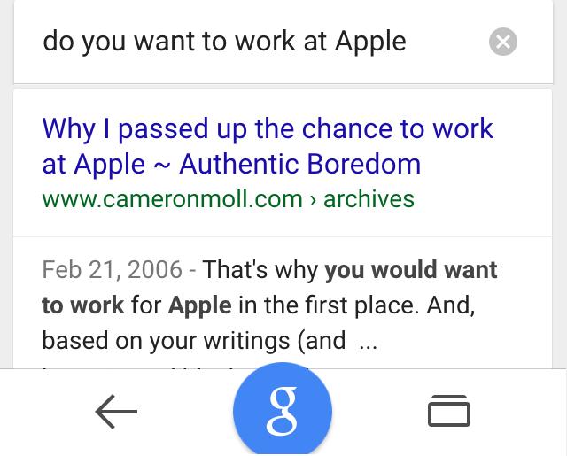 ok google work at apple