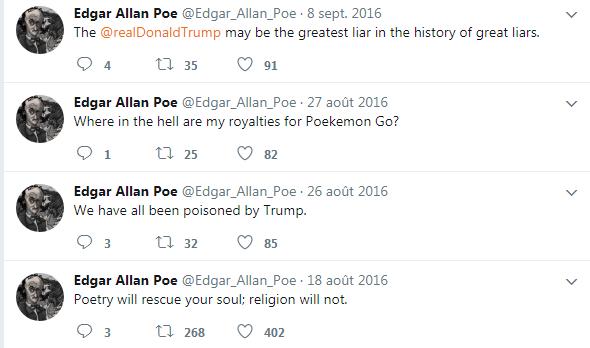 Poe twits examples