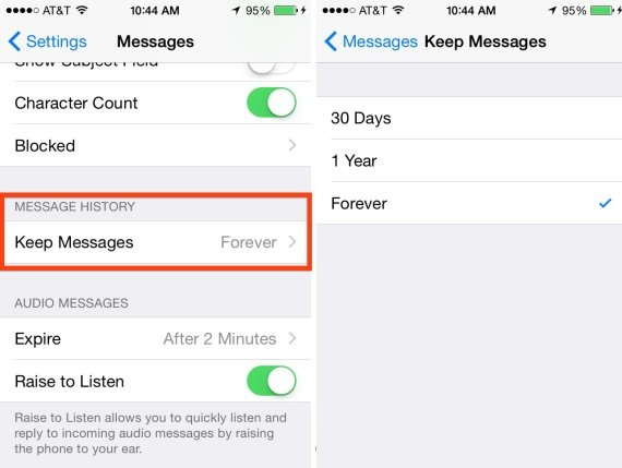 delete old messages