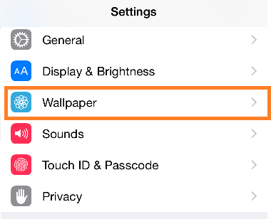 iPhone Background settings