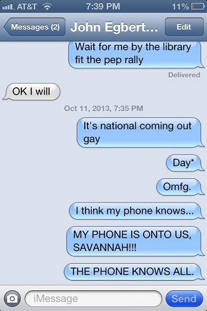national coming out day autocorrect