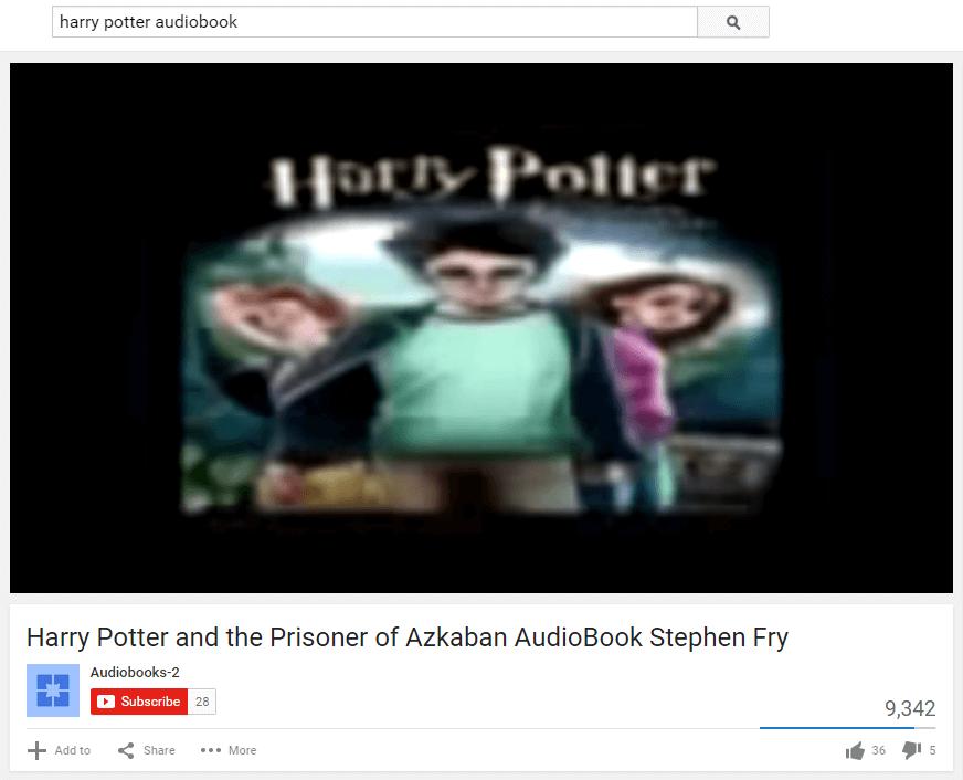 youtube audiobooks