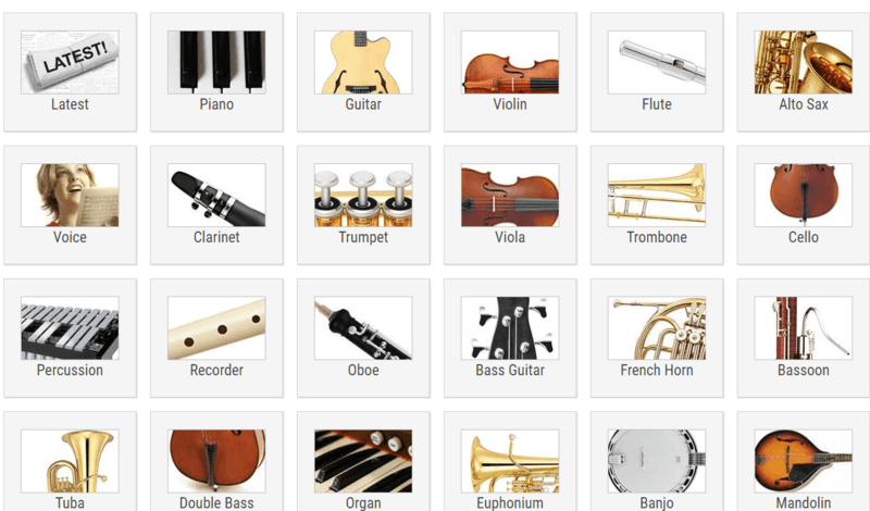 Free scores for classical guitar and piano links