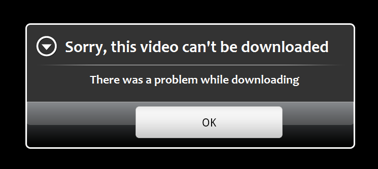 cant download content