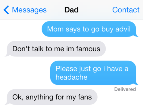 funny parents texting