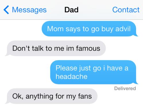 funny parents texting